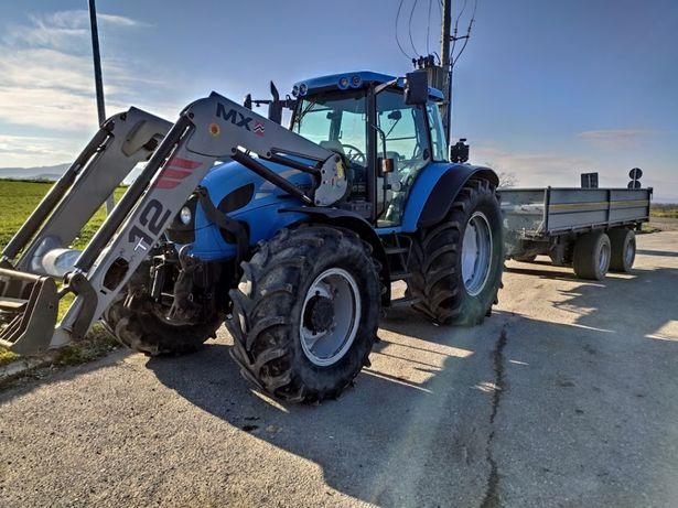 Transport ciągnikiem rolniczym wywrotka wywóz ziemi, śniegu,piasku
