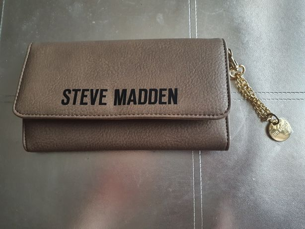 Brązowo- złoty portfel Steve Madden