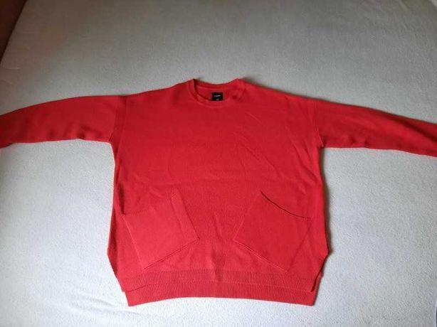 Sweter czerwony sinsay