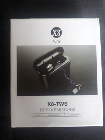 Słuchawki bezprzewodowe BLUETOOTH TWS X8 PowerBank OSTATNIE!