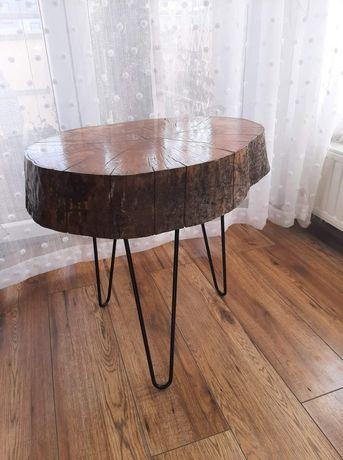 Stolik z plastra drewna-jesion