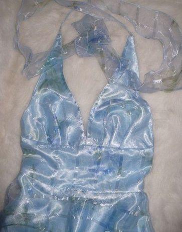 sukienka balowa XS dwuwarstwowa