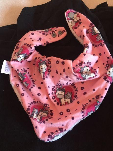 2 babetes personalizados para menina (unicórnio)