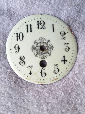 Stara tarcza zegara kominkowego porcelana