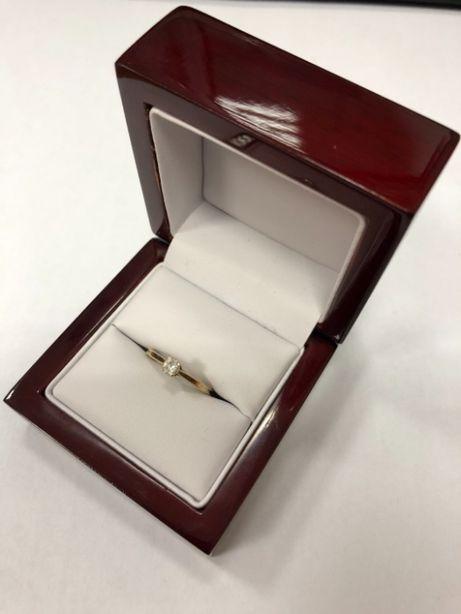 skromny złoty pierścionek 585 1,49g