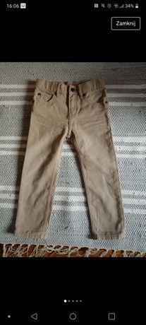 Hm spodnie beżowe chłopięce rozmiar 98
