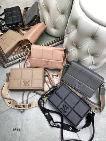 Жіноча сумка,  шкіряна сумка Louis Vuitton, женская кожаная сумка