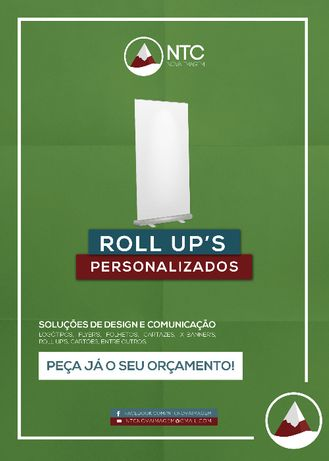 Roll Up personalizados - Expositor Roll-up 85x200cm
