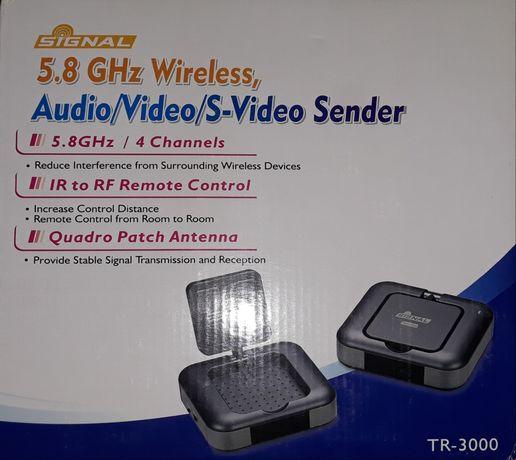 Transmiter sygnału Video Sender 5.8GHz z nadajnikiem IR 4 kanały