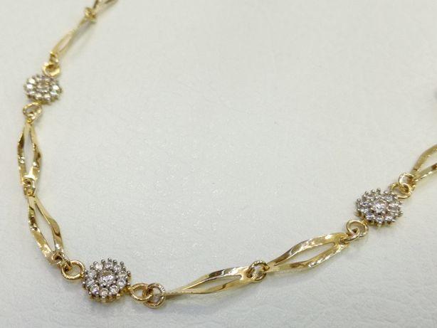 Złota bransoletka 585 - Goldrun Chorzów -Zapytaj o rabat !