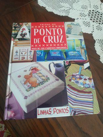 Livro Ponto de cruz, linhas e pontos no mais de 200 esquemas