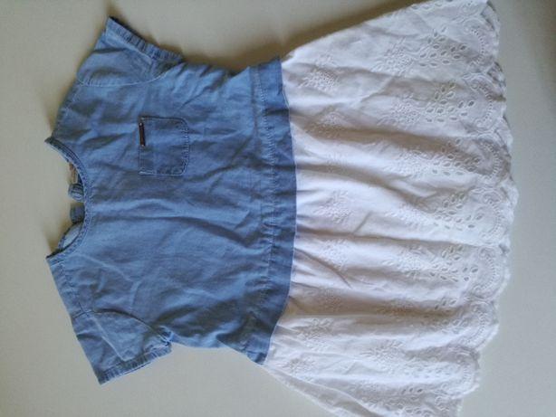 Sukienka niebiesko-biała Zara 98