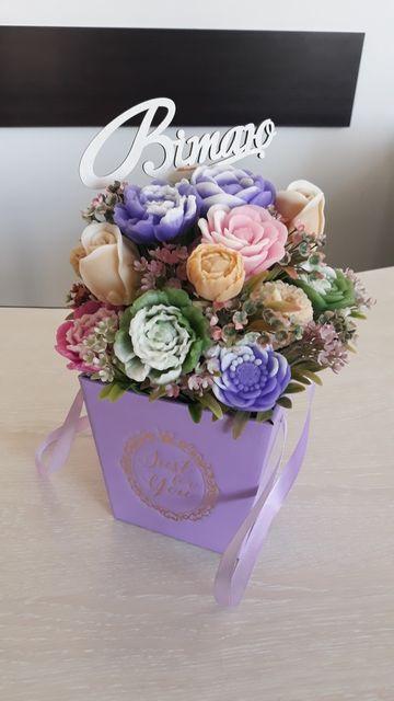 Букет квітів із мила ручноі роботи Мило ручної роботи
