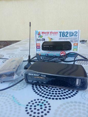 "Цифровий ТВ приймач + USB ""World Vision T62D2"""