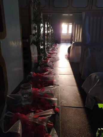 Sztuczne płatki róż dekoracja ozdoba ślub kościół 15000 szt