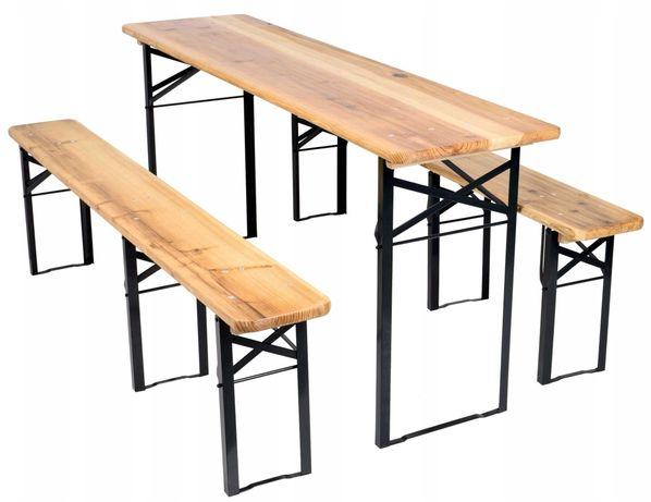 Wynajem Zestaw biesiadny stół + 2 ławy
