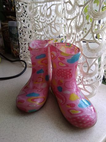 Резинові чоботи для дівчинки