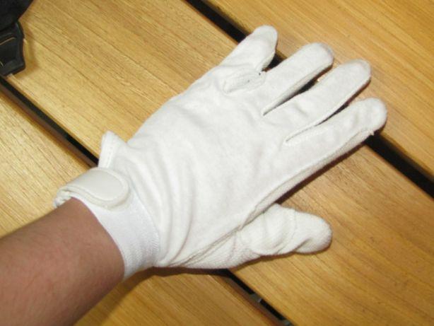UŻYWANE Rękawiczki York Izi białe r. M