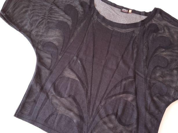 Nowa ONLY czarna ażurowa siateczkowa bluzka S / M nowa bez metki