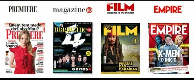 Revistas cinema: filmes, entrevistas, curiosidades, super-heróis, etc