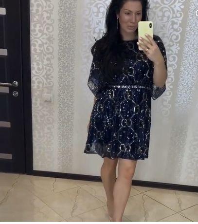 Шикарное вечернее платье гуччи (выпускное)