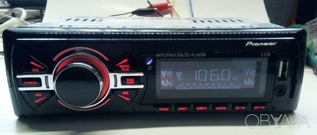Автомагнитола Pioneer 1138 Evro разьем Usb Card Новая Наличие 1590 руб