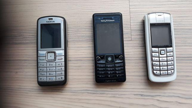 NOKIE i SONY-ERICSON - używane telefony komórkowe - SPRAWNE