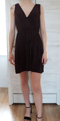 Sukienka H&M 38 fiolet