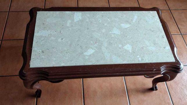 Mesa de Centro com pedra mármore