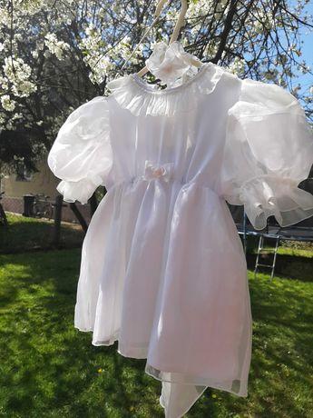 Sukieneczka do chrztu,biała dla dziewczynki