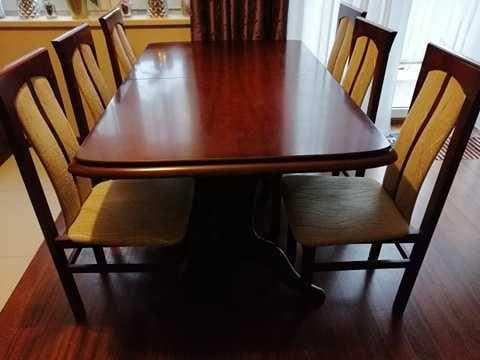 Sprzedam drewniany stół rozkładany +8krzeseł
