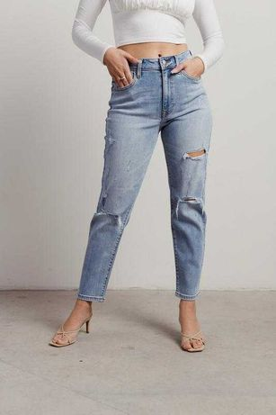 Высокие джинсы с вышивкой New Look zara