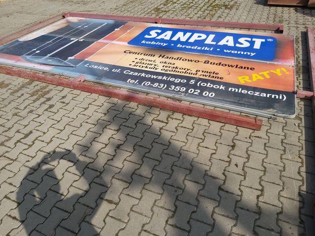 Baner bilbord reklamowy obustronny konstrukcja stalowa