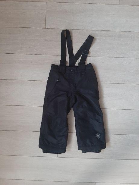 Spodnie narciarskie Lupilu 86/92 czarne z odpinanymi szelkami