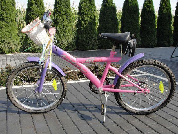 Rower dziecięcy fioletowo-różowy