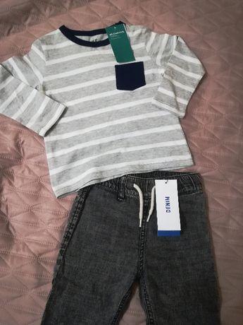 NOWE!!! Bluzeczka + joggersy H&M rozm. 92