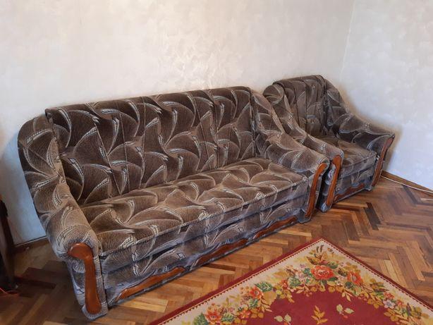 Продам диван и кресло. Раскладные. Комплект
