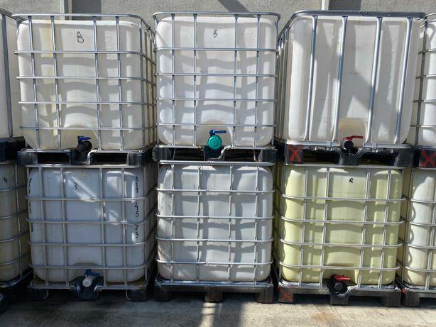 Zbiornik 1000 plastikowa paleta pojemnik mauser ibc na wodę deszczówkę
