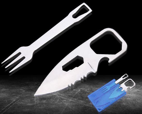 Набор мультитул для выживания /походная посуда/столовые приборы/ нож