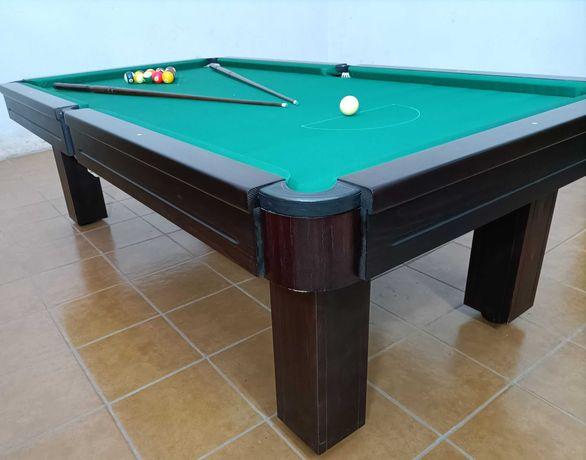 Snooker Bilhar com Montagem e Transporte bolas borrachas