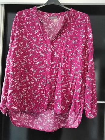Koszula w kwiatki różowa