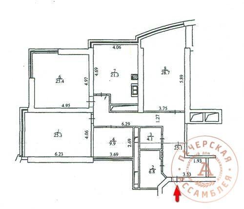 Квартира 3-х комнатная ул. Кловский Спуск. Без ремонта. Продажа.