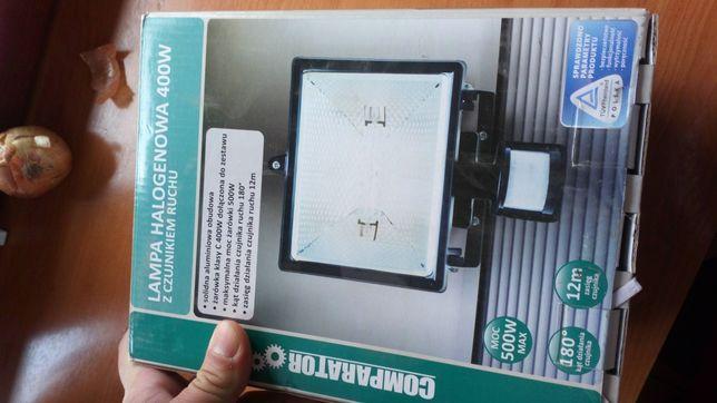 Lampy halogenowe z czujnikiem ruchu