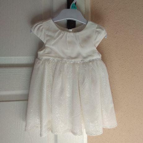 Komplet do chrztu dla dziewczynki - sukienka buciki opaska