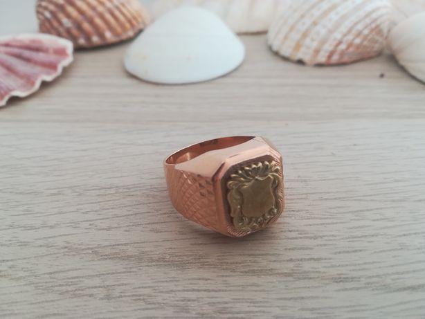Piekny zloty sygnet meski/Radzieckie 583/Rozmiar 27, 16,2 grama