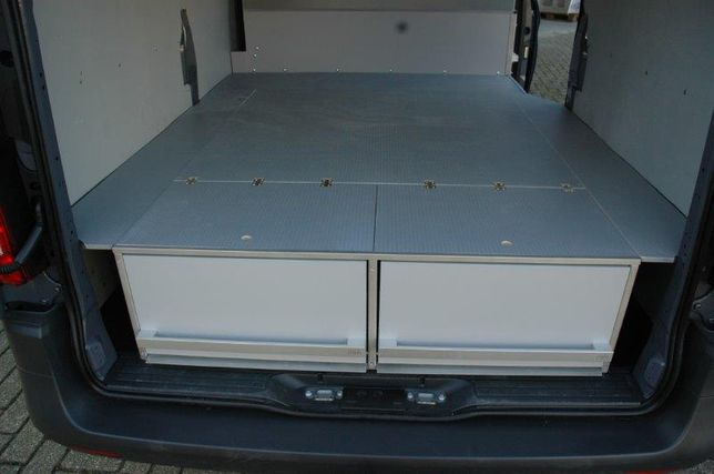 Zabudowa warsztatowa BEKS system szuflad z podwójną podłogą
