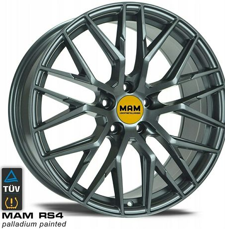 """Felga aluminiowa MAM RS4 18'"""" 8,0J 5x114,3 72,6 ET40 Palladium NOWA!!!"""
