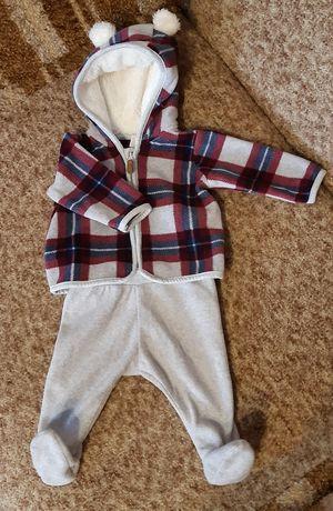 Флисовый костюм 1-2 месяца