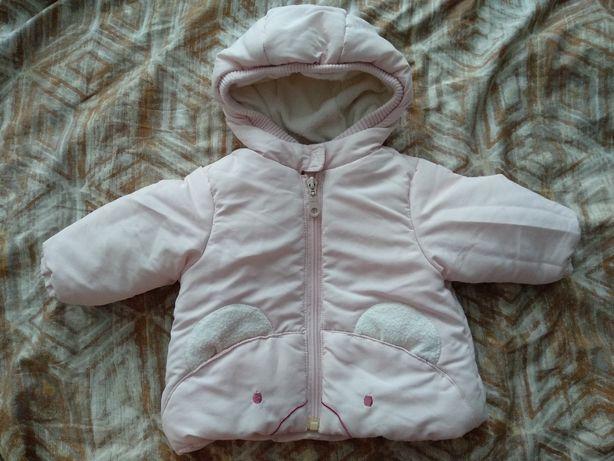 Зимняя куртка на пуху 0-6 месяцев