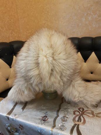 Зимняя песцовая шапка женская